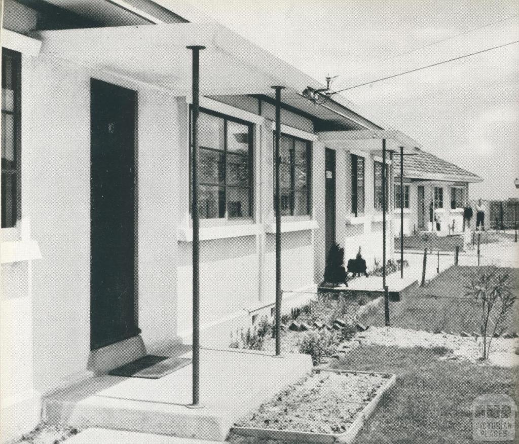 Pre-cast concrete homes, Fishermans Bend, 1942