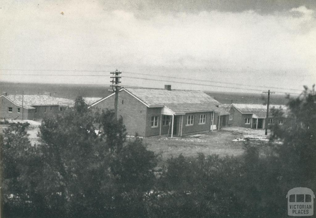 Housing Commission Estate at Warrnambool, overlooking the southern ocean, 1942