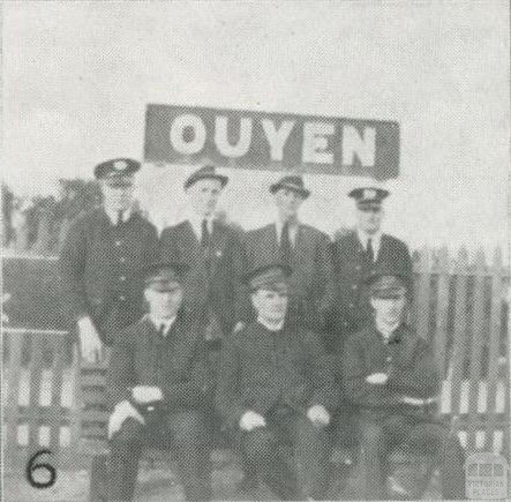 Ouyen station staff, 1927