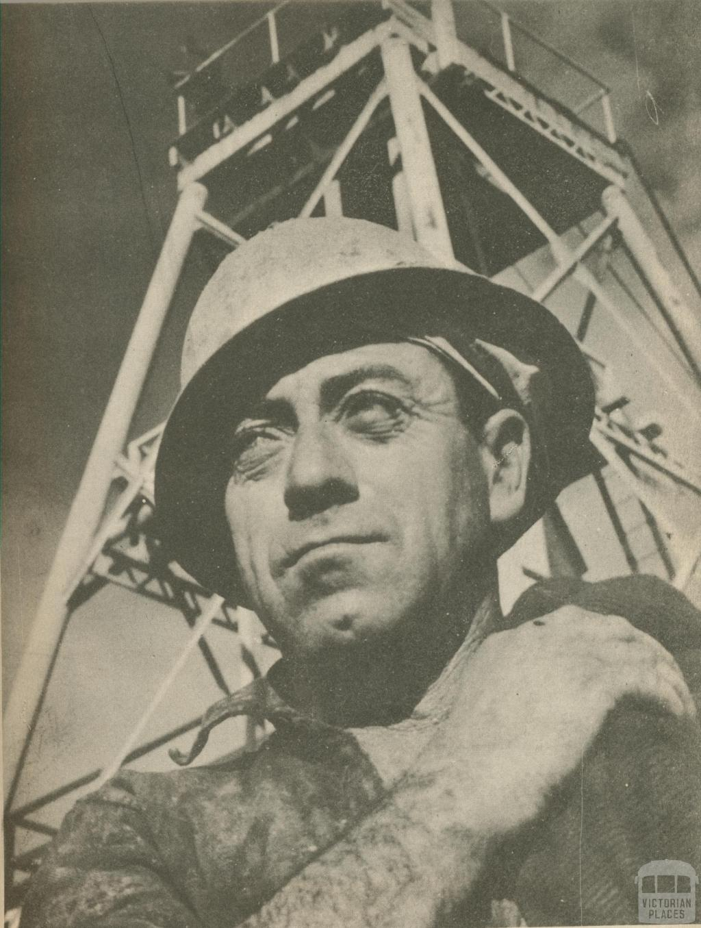 Typical miner from the Bendigo mines, 1950