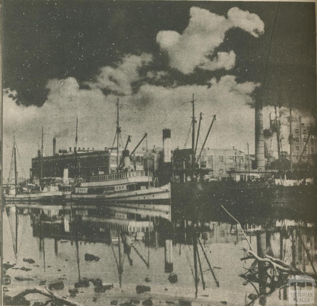 Ships at Footscray, 1950