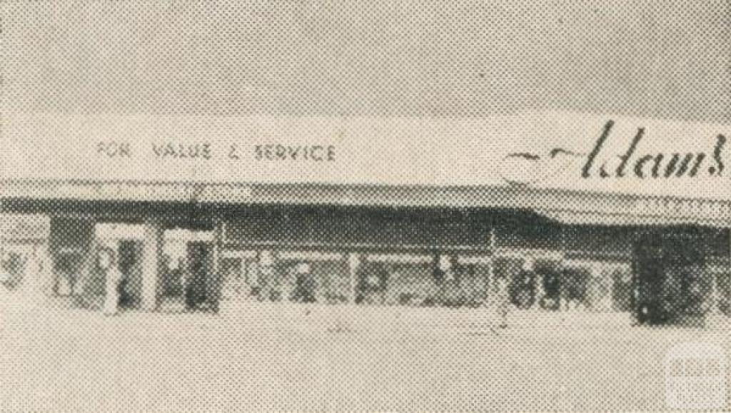 Adam's Department Store, Cobram, 1963
