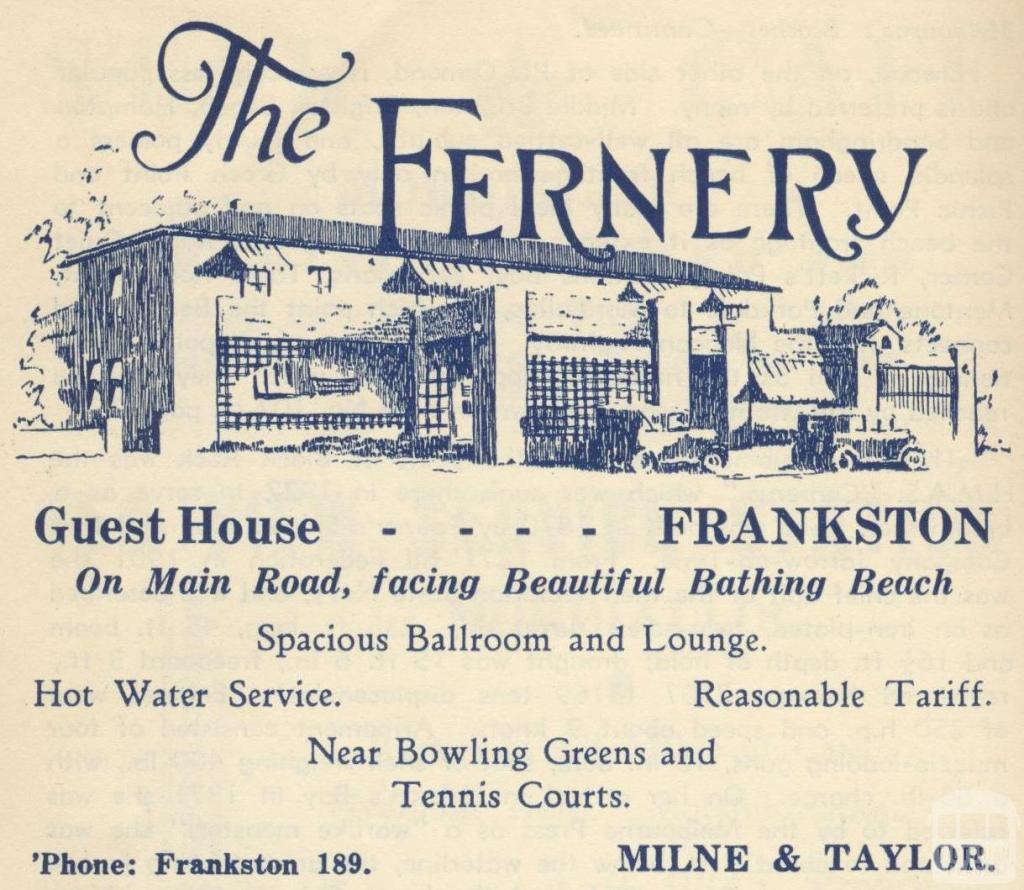 The Fernery, Frankston, 1949