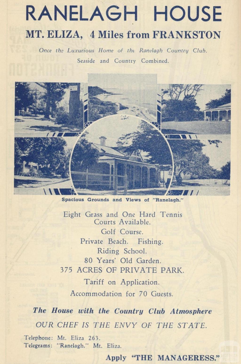 Ranelagh House, Mount Eliza, 1949