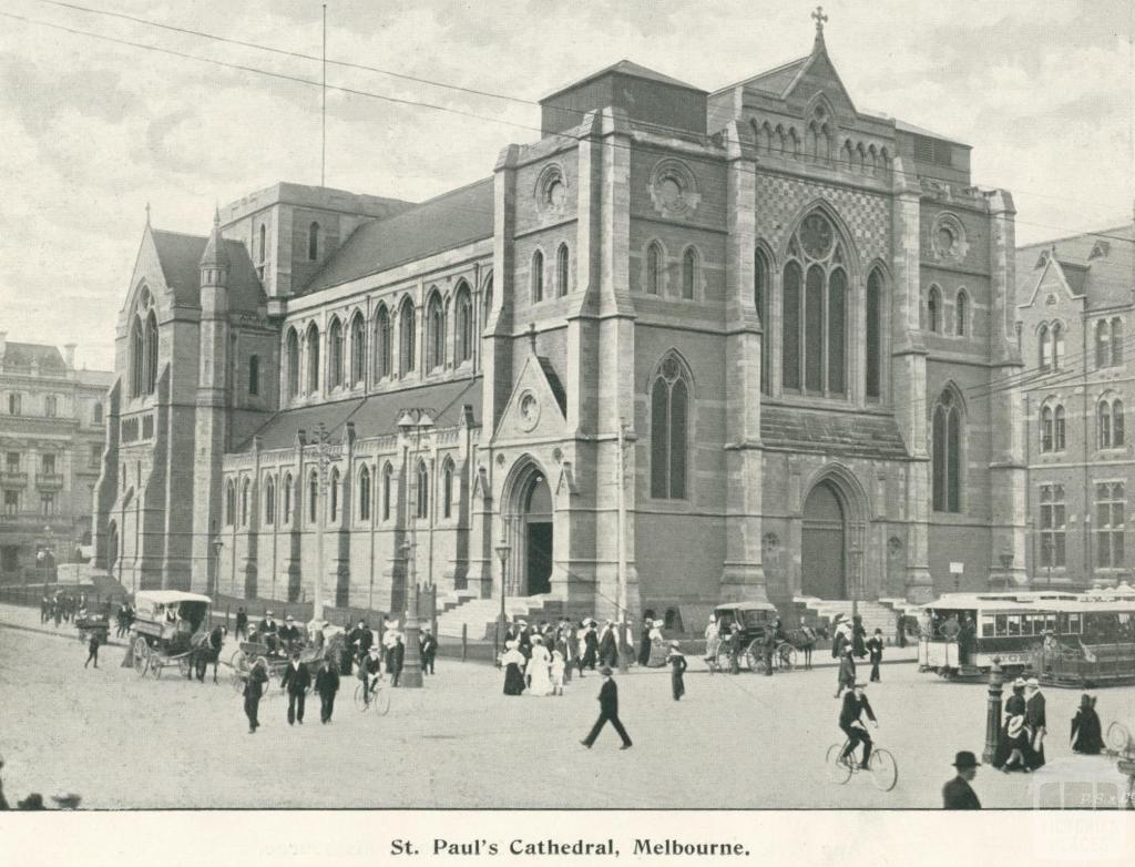 St Paul's Cathedral, Melbourne, 1900