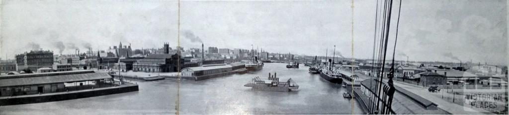 Panoramic view of Melbourne and the Yarra, 1900