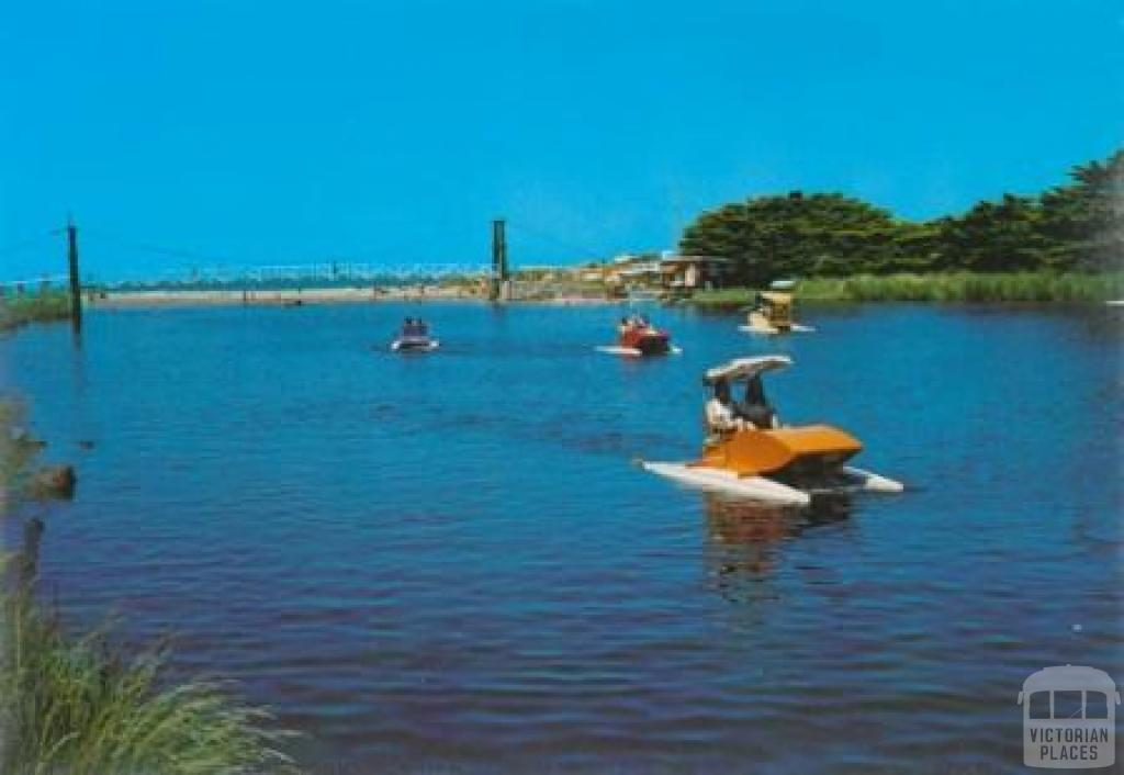 Paddle boats and footbridge, Lorne