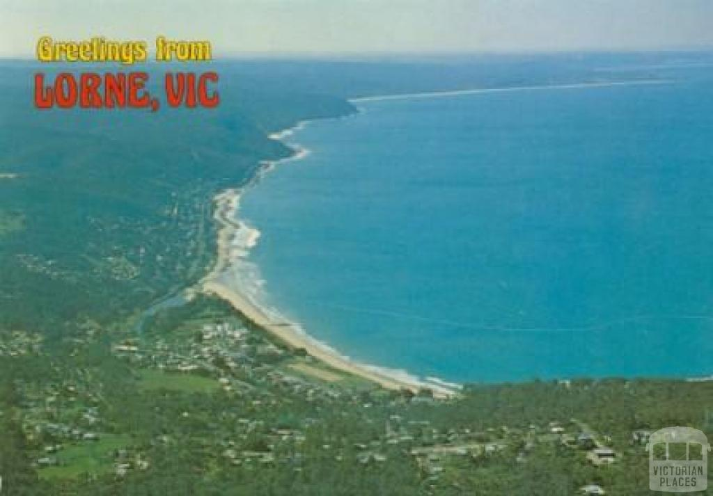 Aerial view of Lorne on the Great Ocean Road
