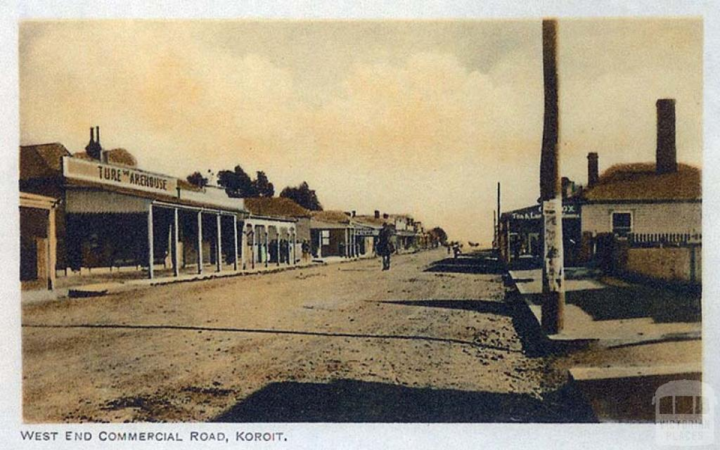 West End Commercial Road, Koroit, c1910