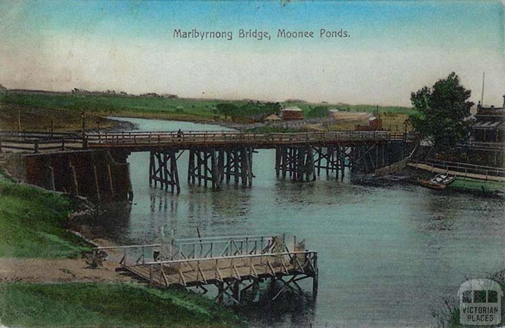 Maribyrnong Bridge, Moonee Ponds, 1910