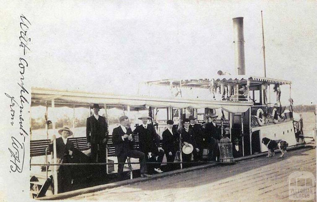 River Steamer Dargo, c1905