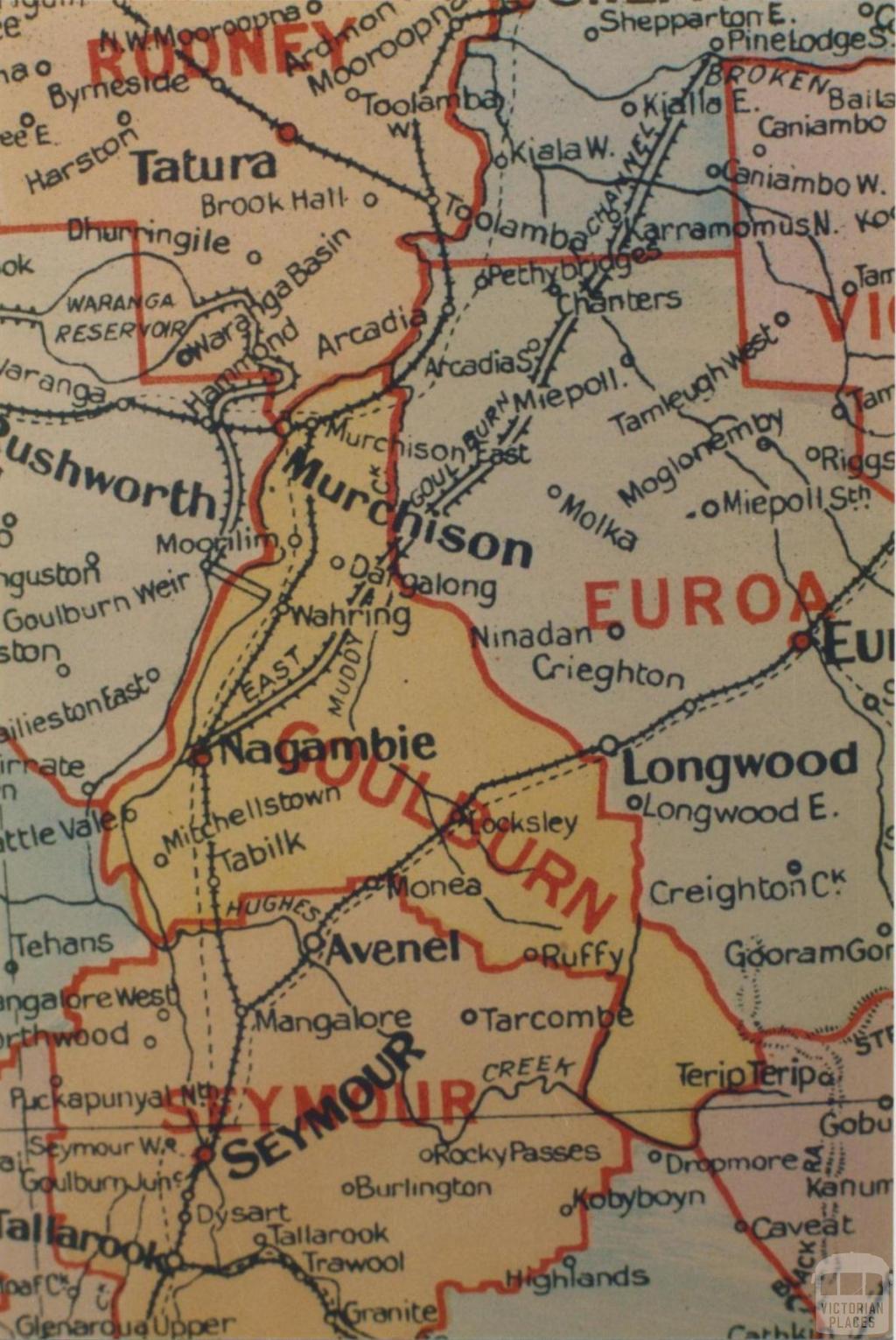 Goulburn shire map, 1924