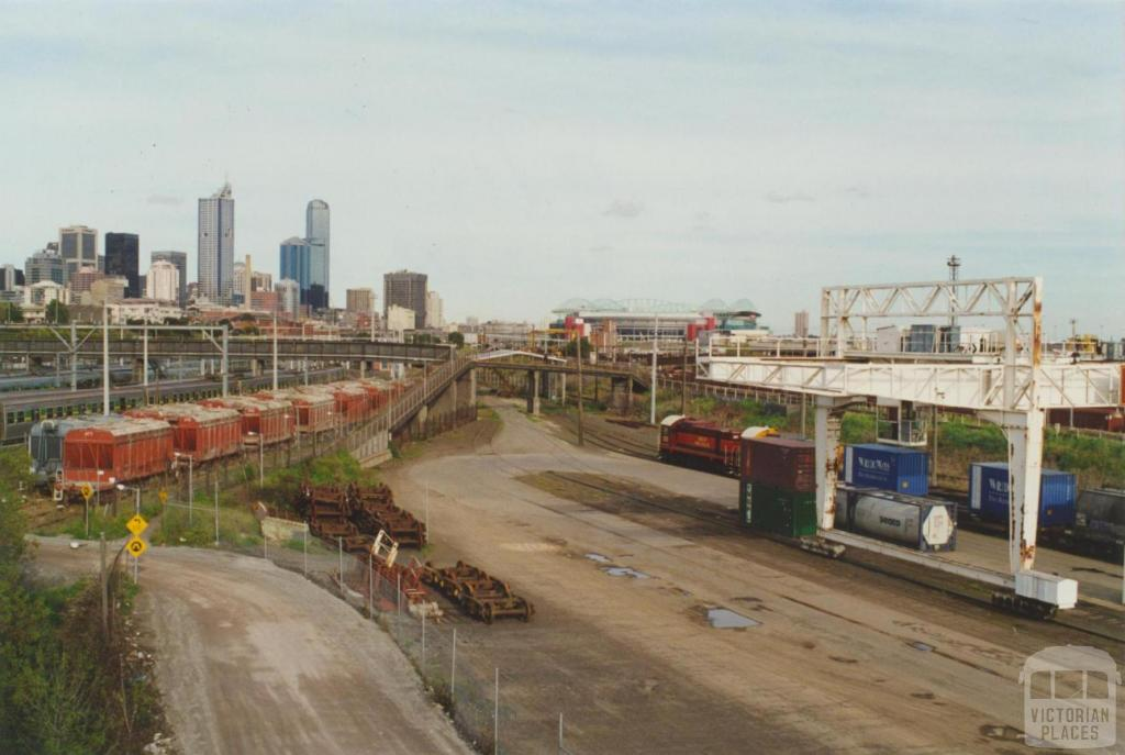 West Melbourne Rail Yards from Dynon Bridge, 2000