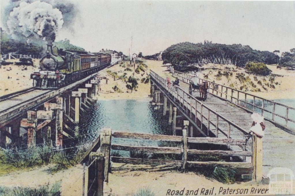 Road and Rail, Patterson River, Carrum, 1910