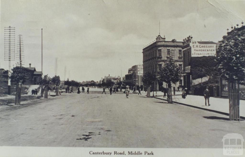 Canterbury Road, Middle Park, 1911
