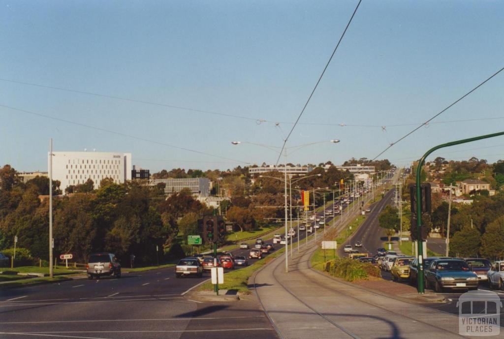 Burwood Highway and Deakin University, 2000
