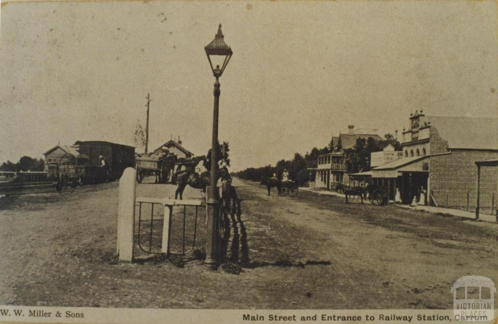 Carrum main street and Railway Station, 1907