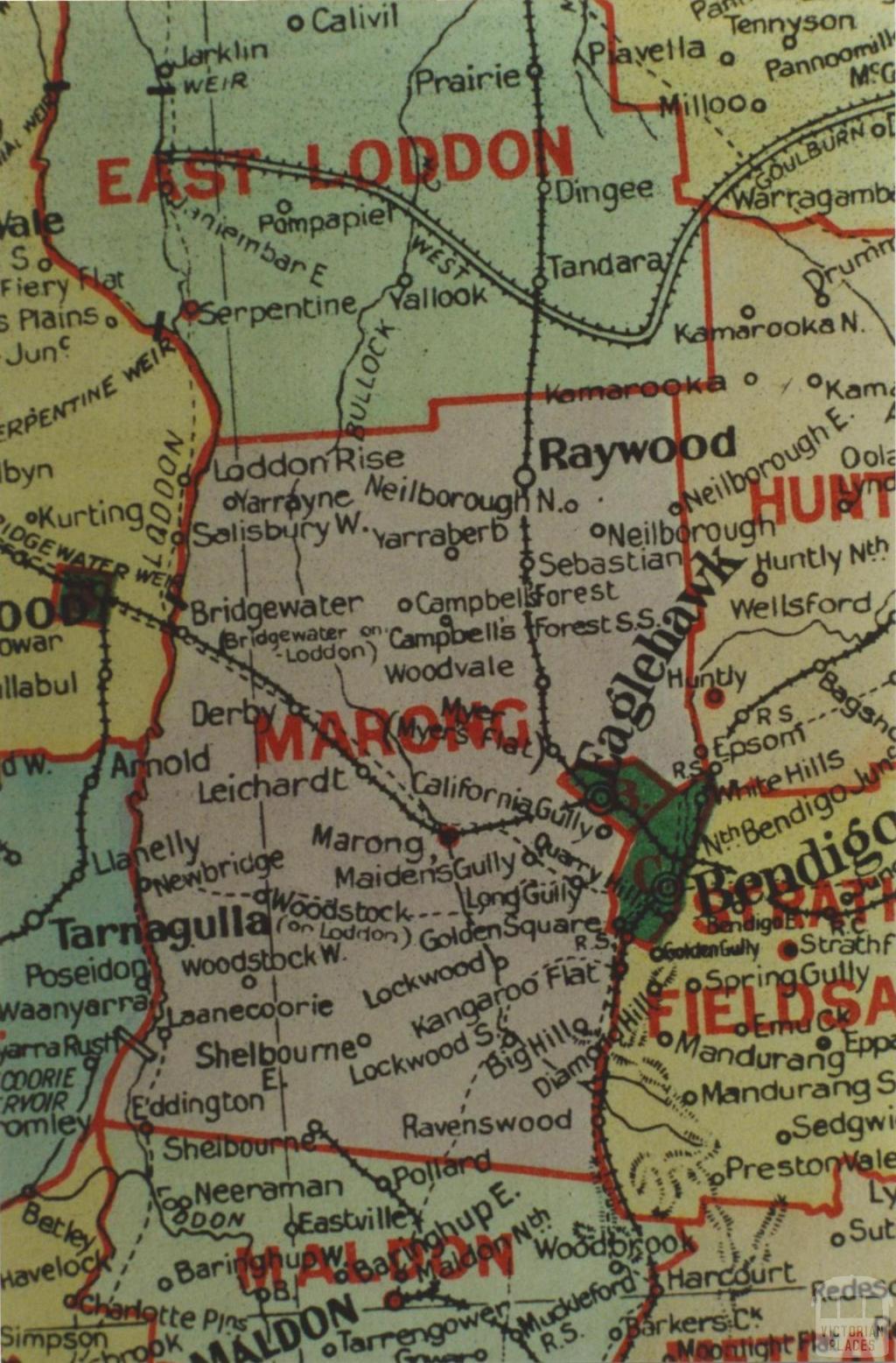 Marong shire map, 1924