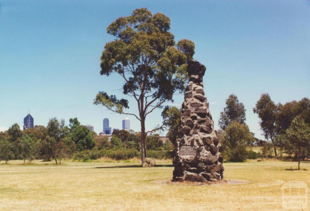 Burke and Wills memorial cairn, Royal Park, 2000