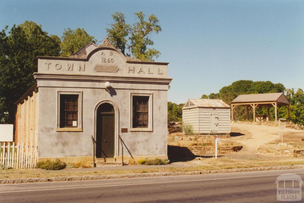 Chewton Town Hall and portable police lock up, 2001