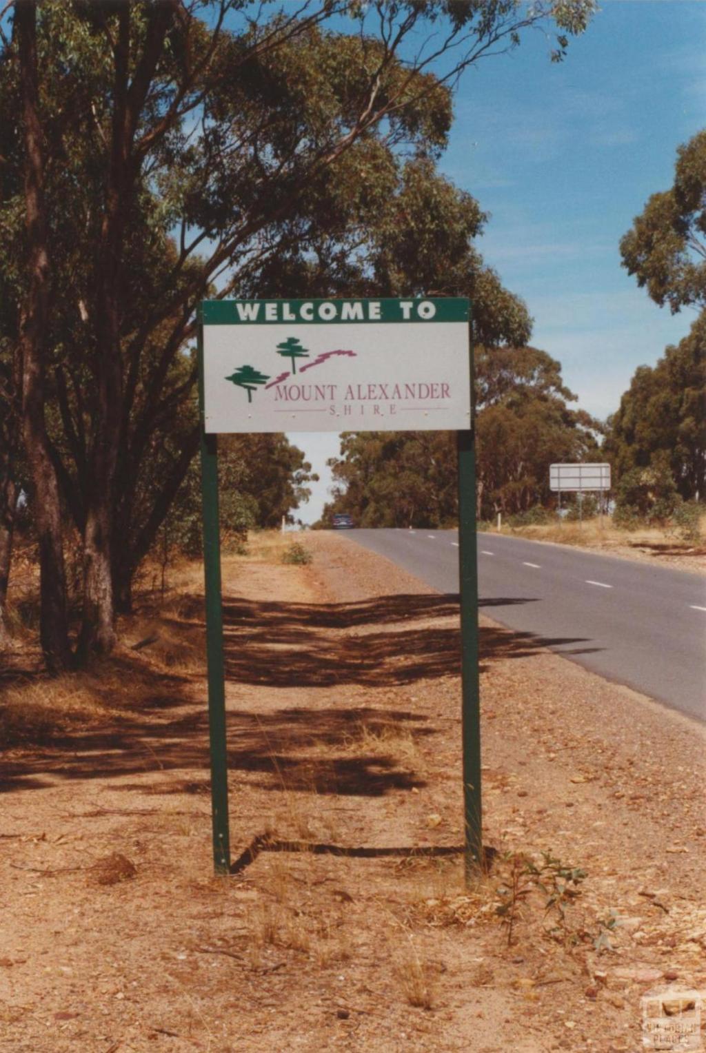 Mount Alexander Shire sign, 2001