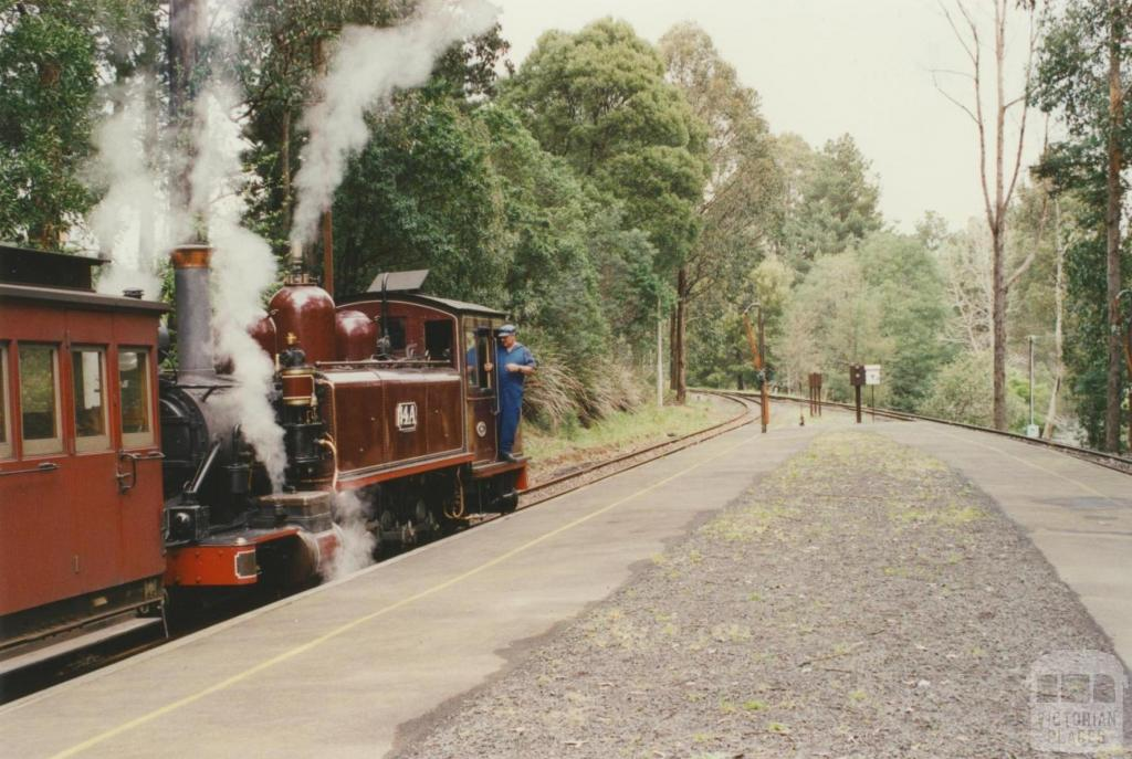 At Emerald Railway Station, 2001