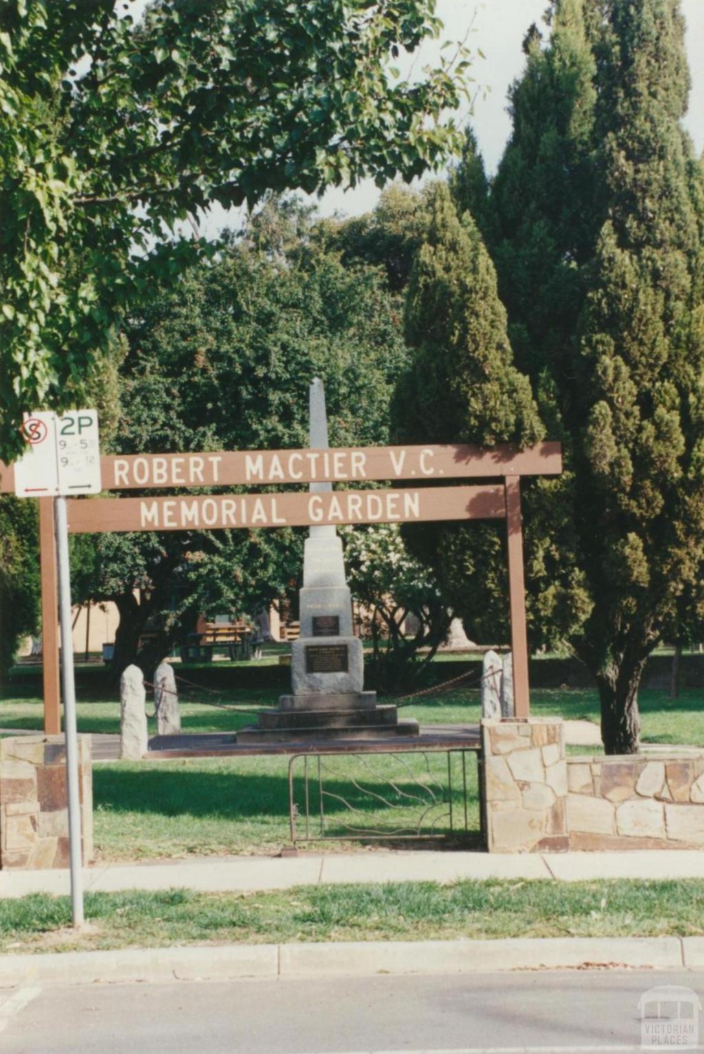 Robert Mactier VC Memorial Garden, 2002