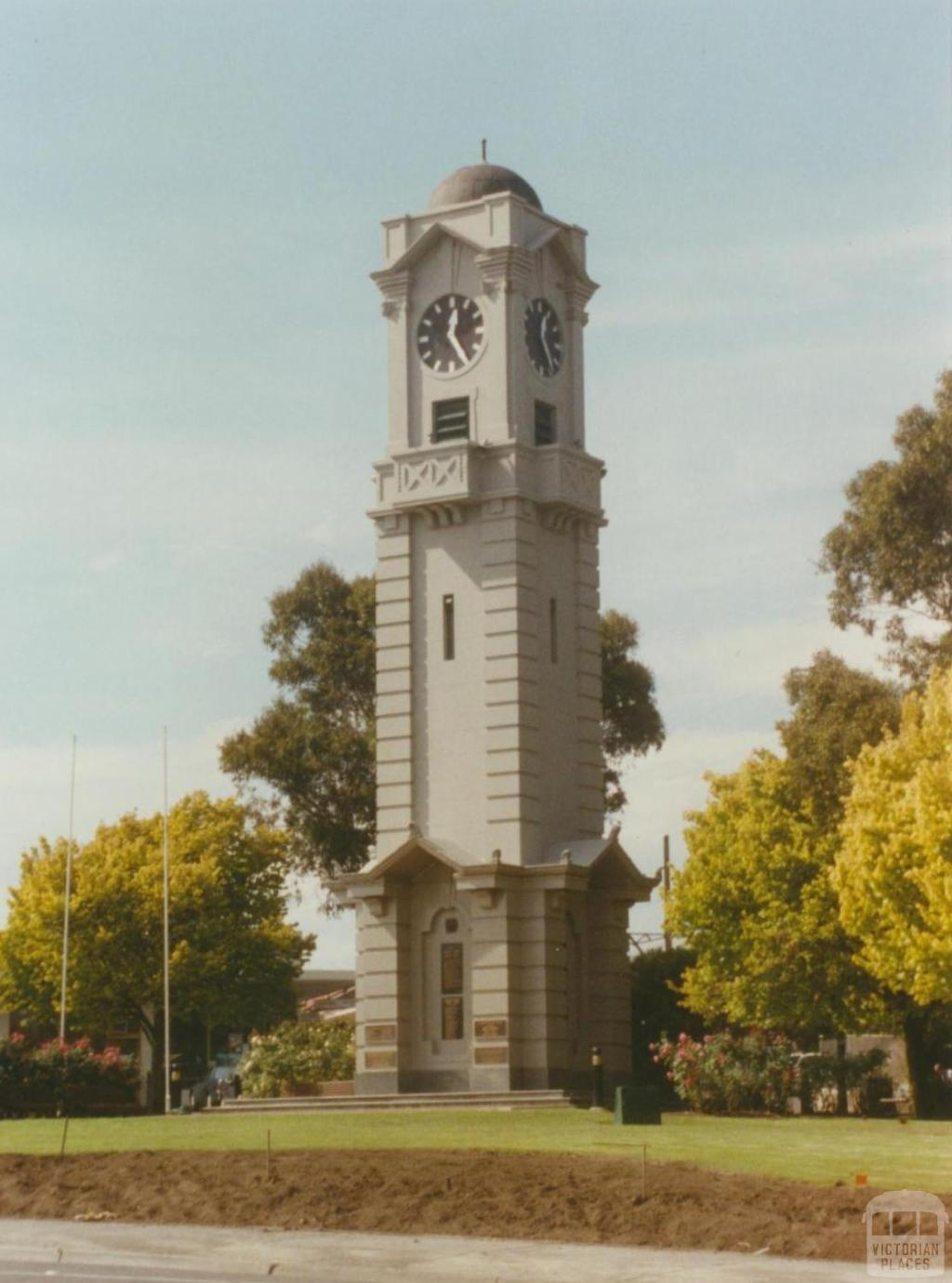 Clock tower, Ringwood, 2002