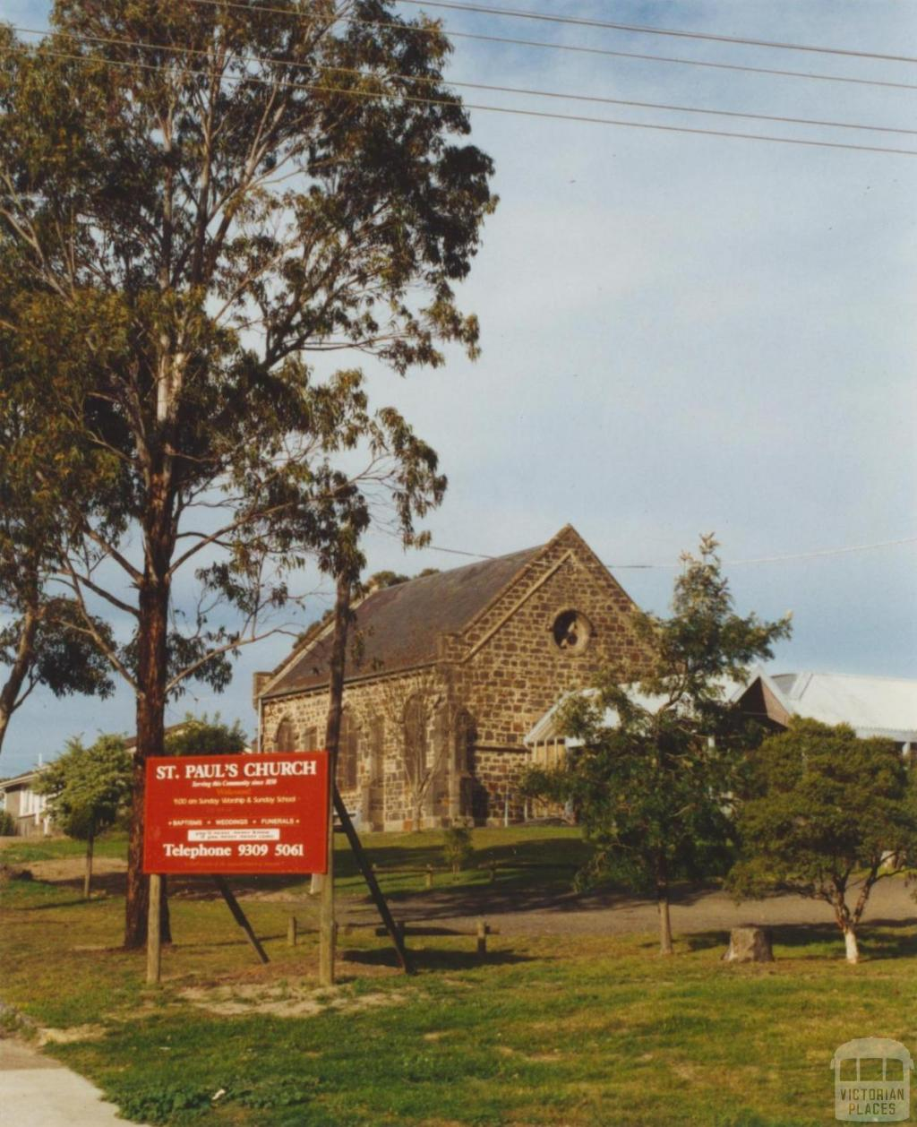 St Pauls Church of England, Westmeadows, 2002
