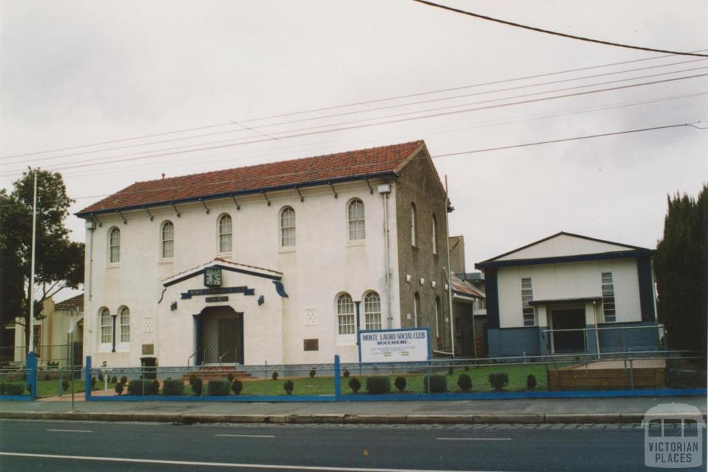 Monte Lauro Social Club, formerly Brunswick West Progress Association Hall, 2005