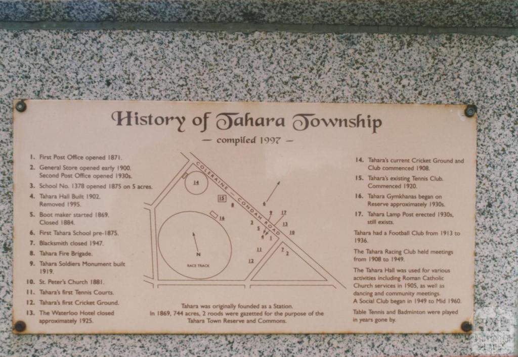 History of Tahara township plaque, 2008