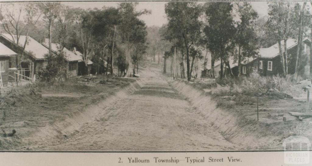 Yallourn township, 1922