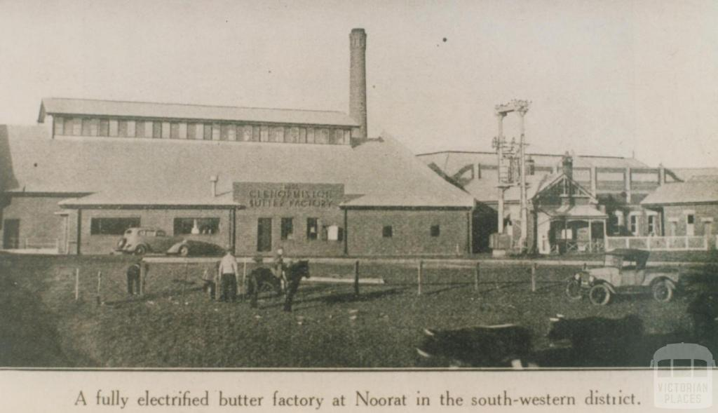 Electrified butter factory at Noorat, 1937