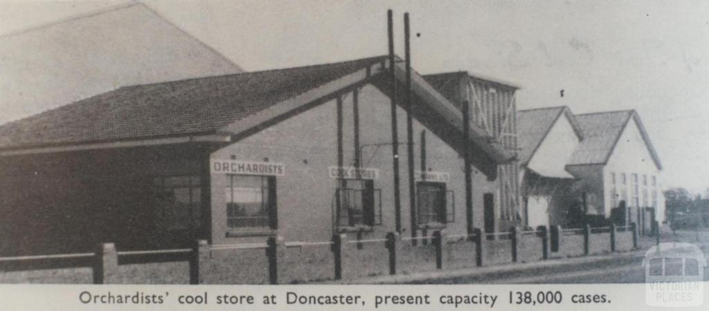 Orchardists' cool store, Doncaster, 1964