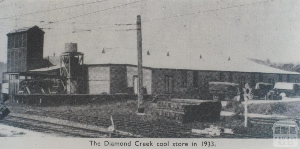 Diamond Creek cool store in 1933, 1964