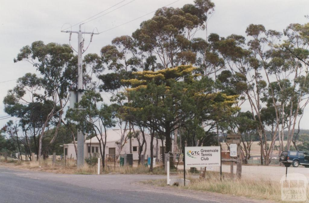 Greenvale tennis courts and hall, Section Road, 2010