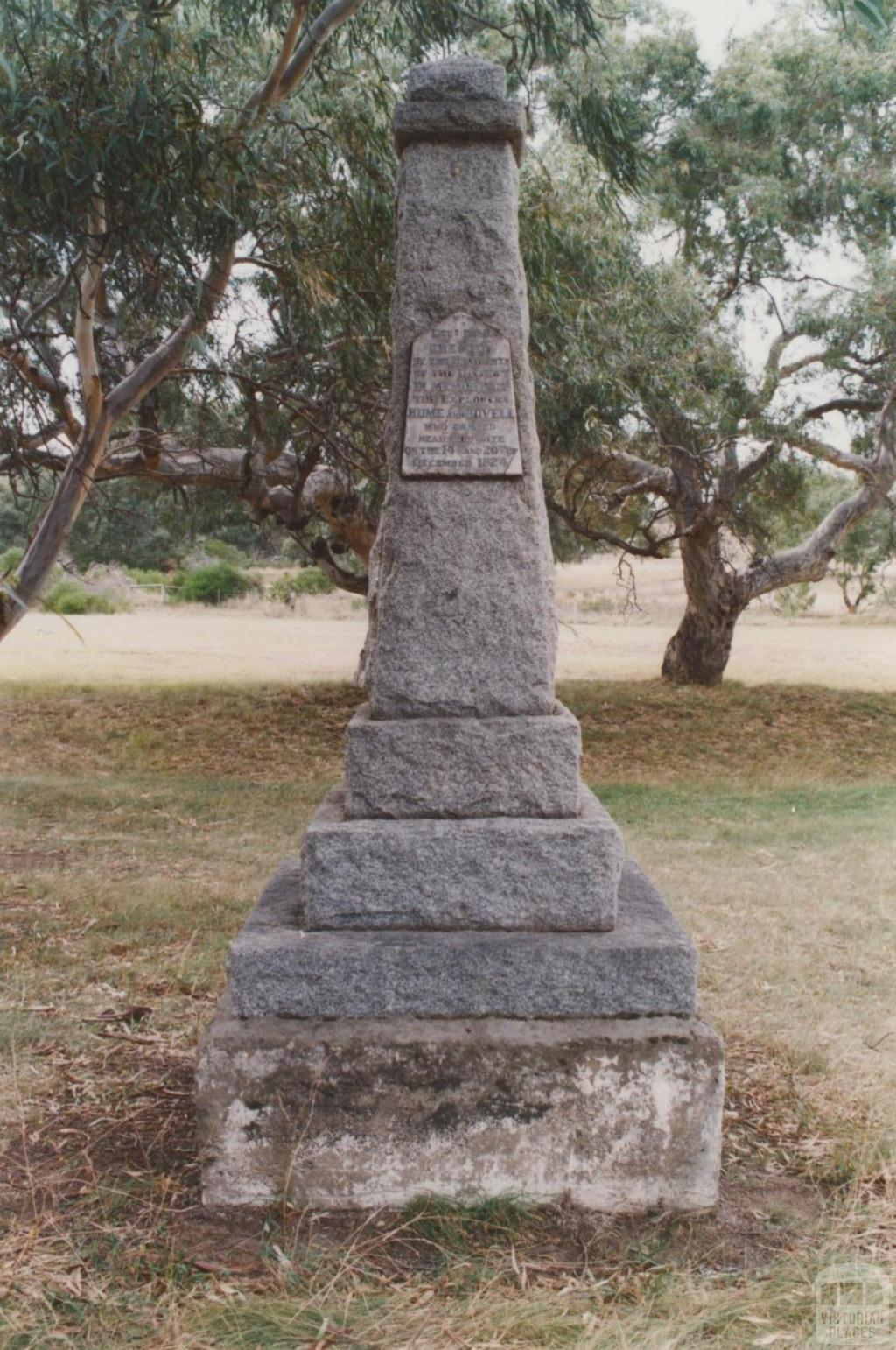 Hume and Hovell memorial (1924), Oaklands Road, Greenvale, 2010