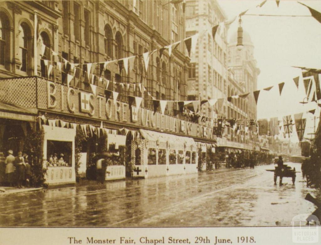 Monster Fair, Chapel Street, Prahran, 1918