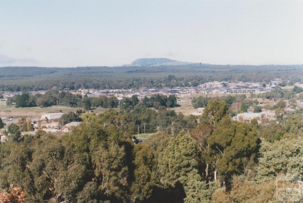 Mount Clear and Mount Buninyong from Sovereign Hill lookout, 2010