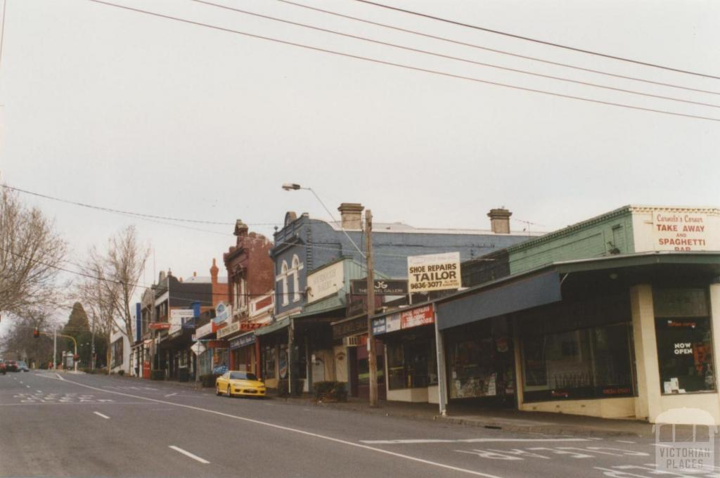 Union Road looking south, Surrey Hills, 2010