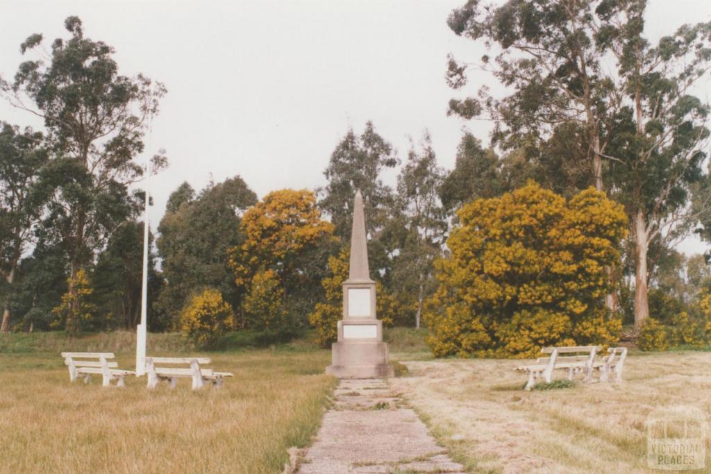 Majorca, Costwald and Craigie war memorial, 2010