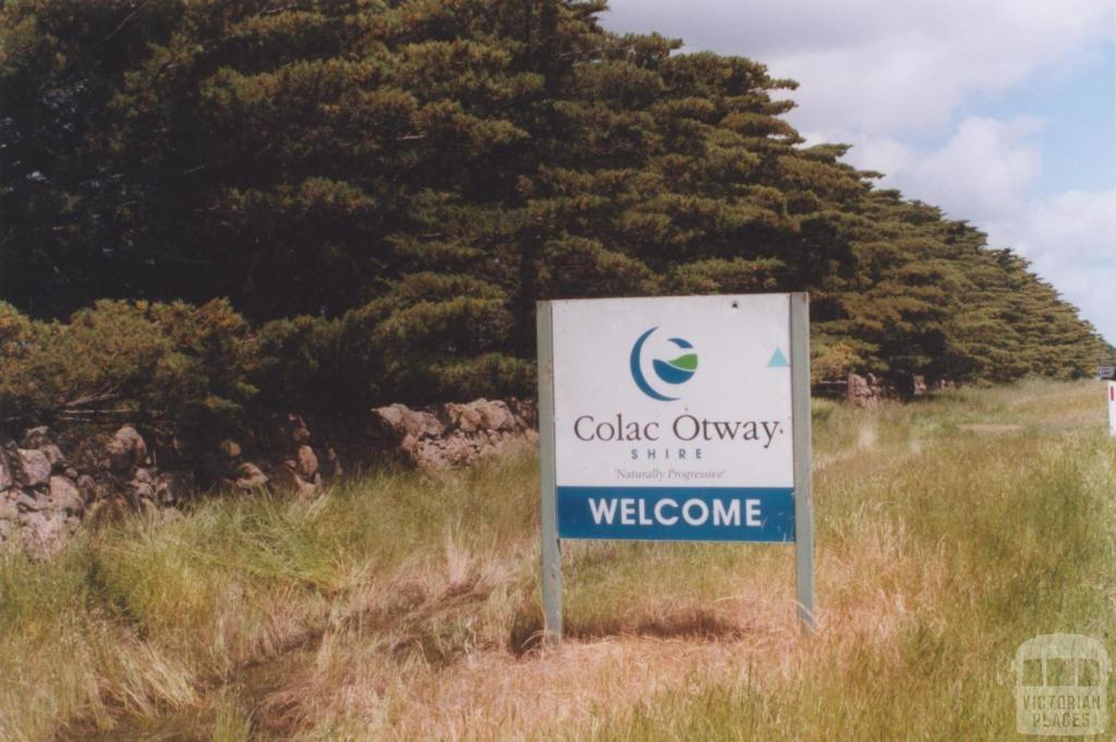 Welcome Sign and Dry Stone Fence, Colac Otway Shire, 2010