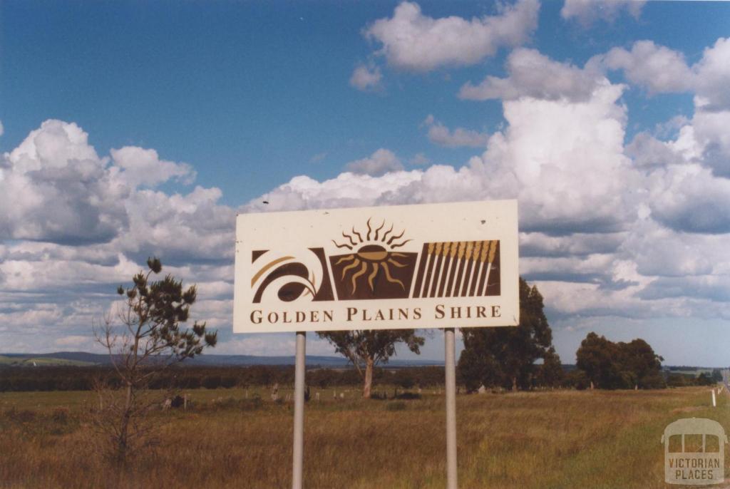Sign, Golden Plains Shire, 2010