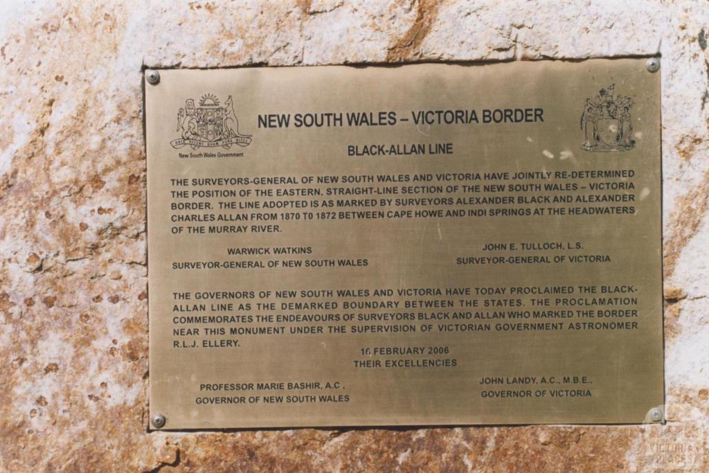 State Border, Black-Allan Line, Genoa, 2010