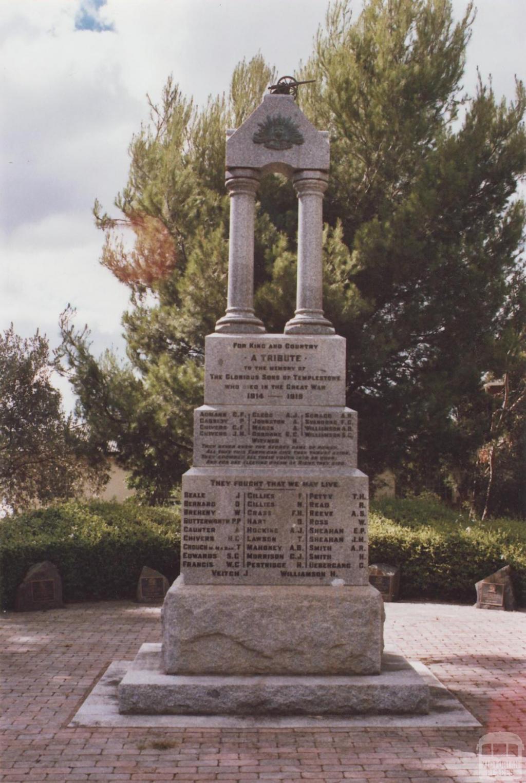 War Memorial, Templestowe, 2012