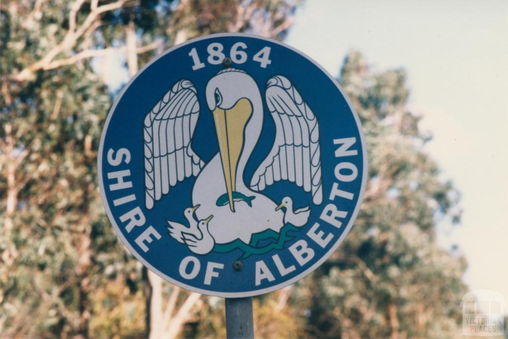Roadside sign Alberton Shire, 1980