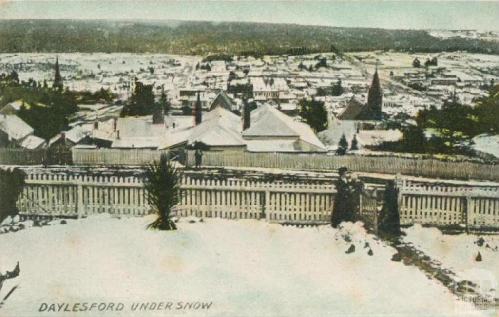 Daylesford under snow, 1910