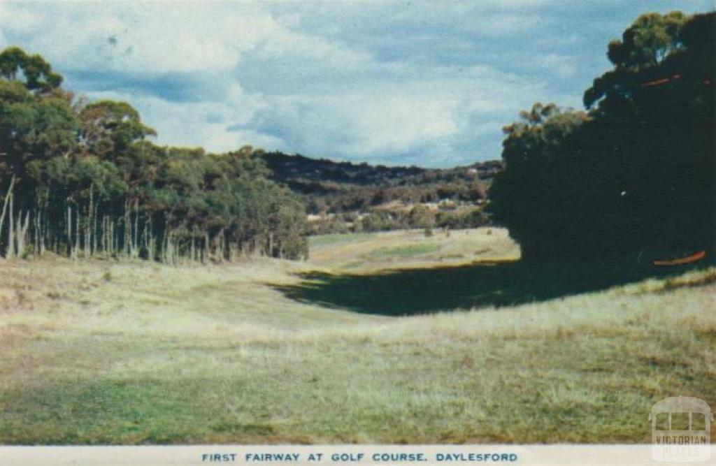 First fairway at golf course, Daylesford, 1957