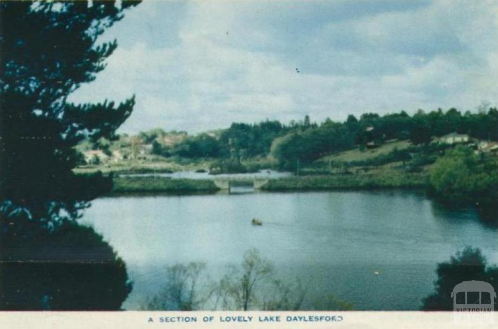 A section of lovely Lake Daylesford, 1957