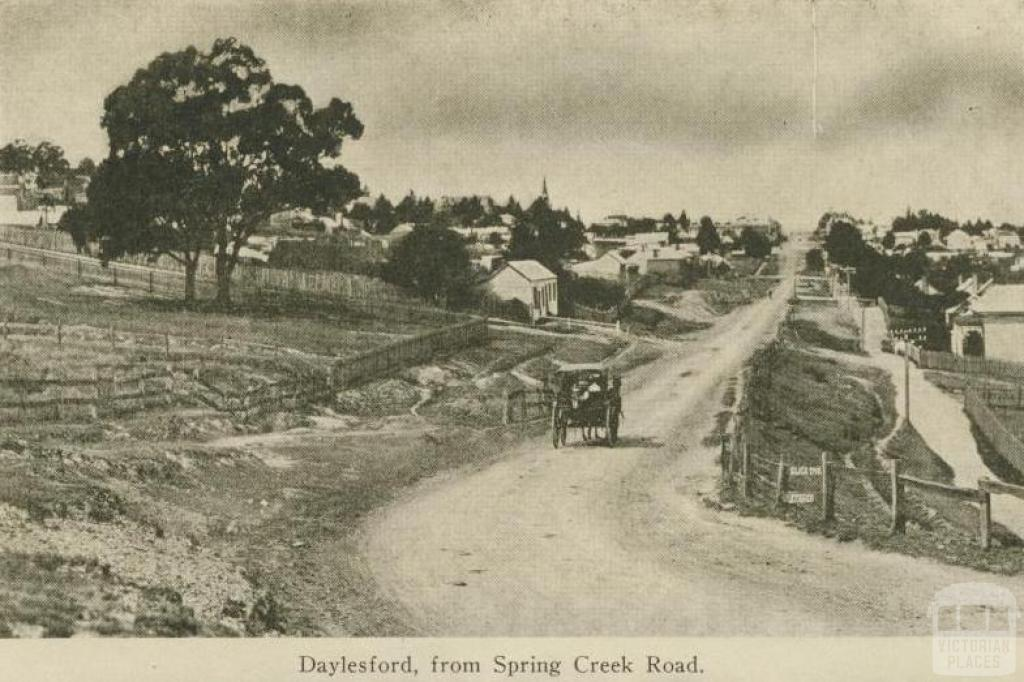 Daylesford from Spring Creek Road